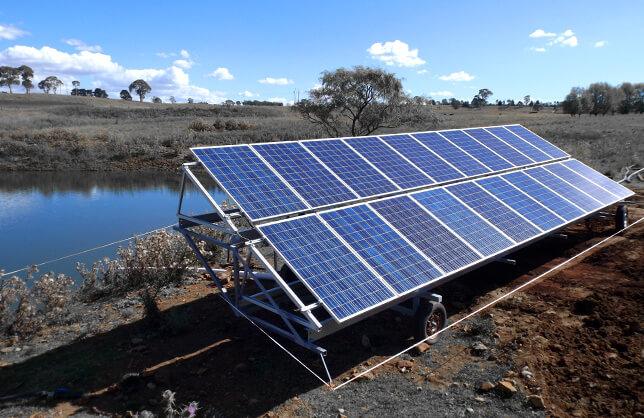 أنظمة مضخات السقي بالطاقة الشمسية