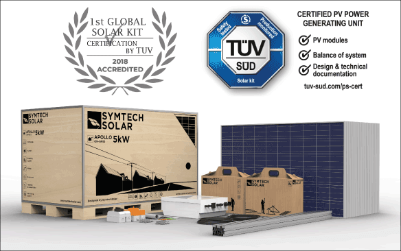 TÜV SÜD Successfully Certifies Symtech Solar's PV Power Generating Units and Solar Kits