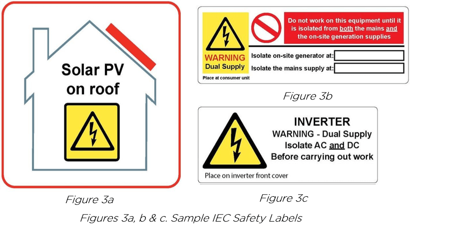 Solar Safety Labels Sample IEC Labels Kit