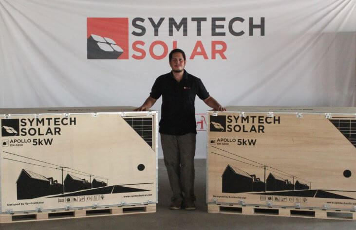 Juan Castanon in Symtech Solar Kit Factory 2016