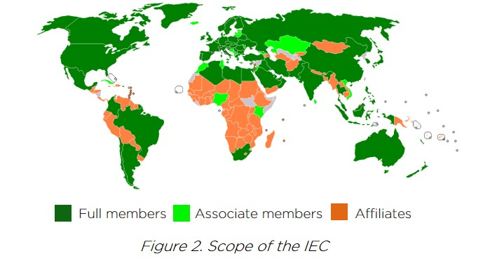 World Map of Solar IEC members, associate members, and affiliates