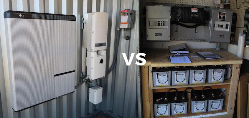 Lead Acid Battery Bank vs Lithium Ion Battery Bank