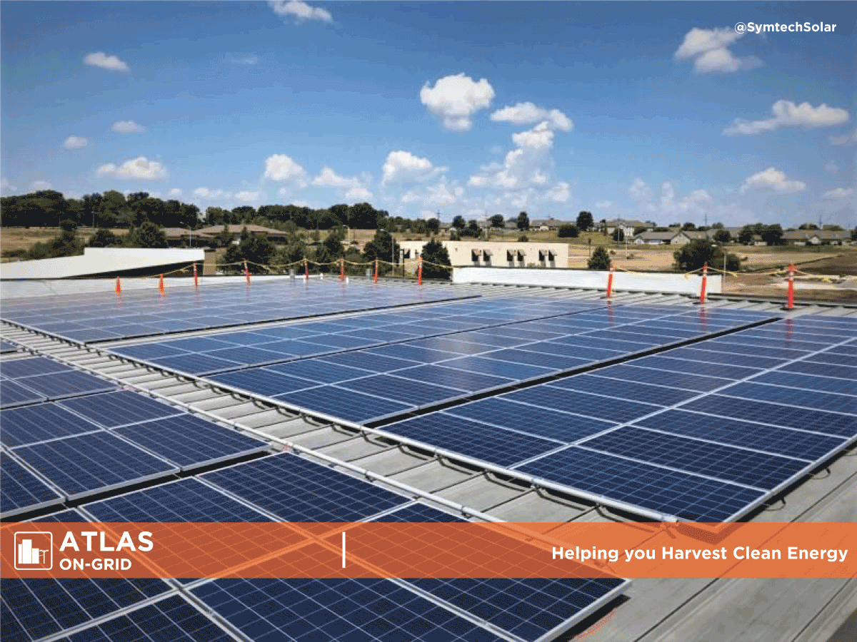 Flat roof commercial PV system