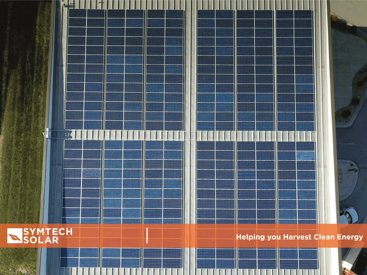 Commercial Solar PV System Ariel view