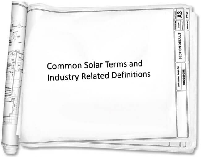 Solar Power: Commonly used technical terms