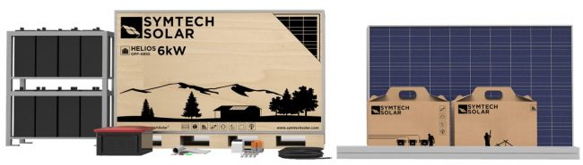 Off Grid Solar Panel Kit with Batteries, Symtech Solar