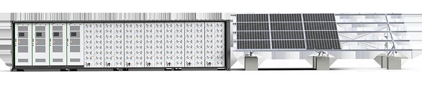 Megatron Solar plus Storage Ground Mount System