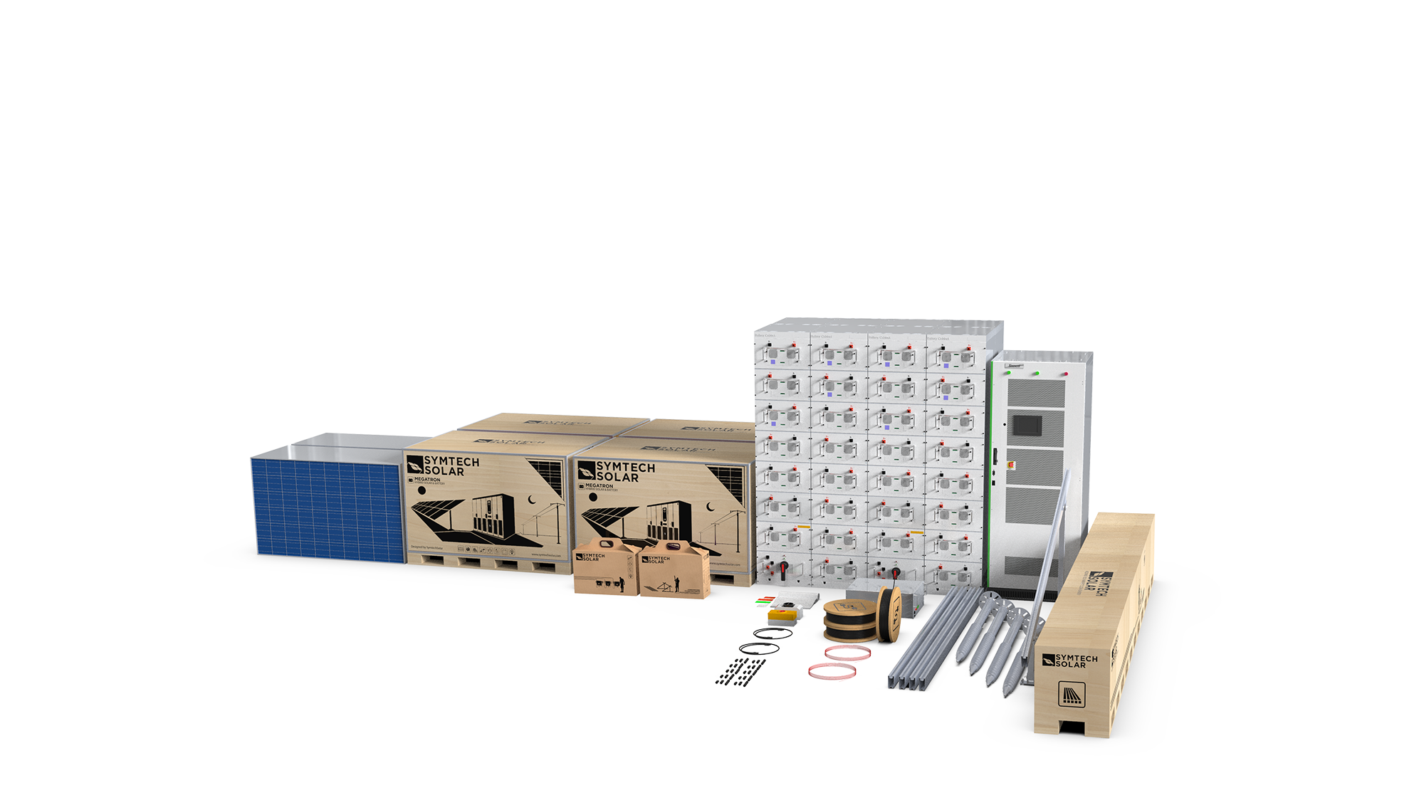 Solar and Lithium Ion Battery Kit for Commercial Solar Projects