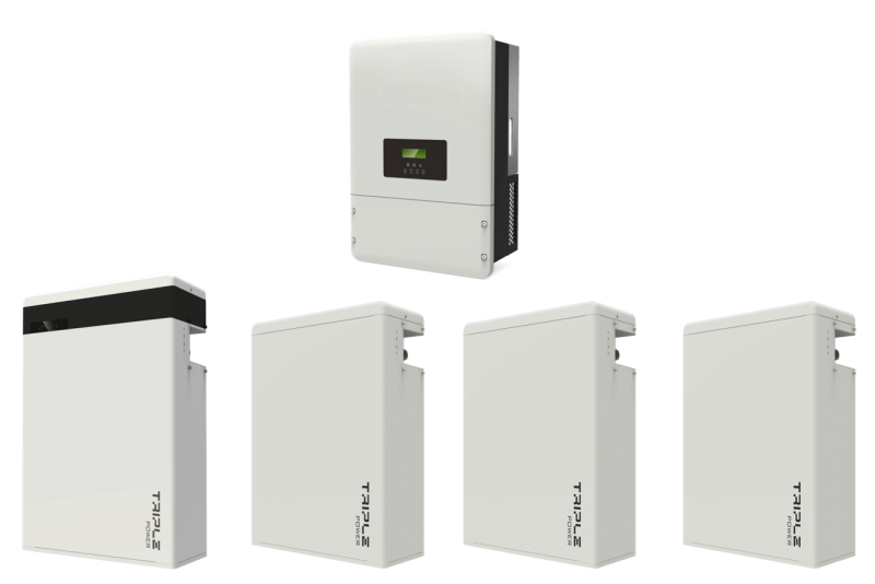 Hybrid Solar Inverter and Battery Layout